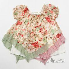 L:ú L:ú by @Miss Grant Official gipsy chic pink floral print silk blouse #beige #missgrant #SS14 #spring #summer #springsummer2014 #childrens #kids #childrenswear #kidswear #kidsfashion #girls