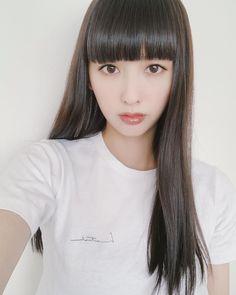 Pin on ヘアスタイル Long Hair Models, Long Black Hair, Short Hair Cuts For Women, Face Hair, Japanese Beauty, Beautiful Asian Girls, Hairstyles With Bangs, Hair Looks, Japan Model