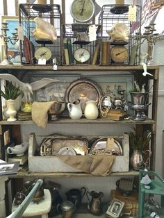 Another beautiful booth at ACM is Booth 58. I am always impressed with their displays and this shelving display does not disappoint. Summer Decorating Ideas