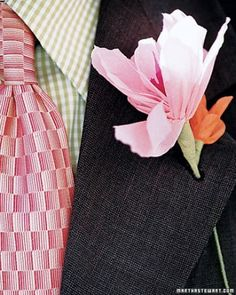 "See the ""Crepe-Paper Lilies"" in our How To Make Paper and Fabric Wedding Flowers  gallery"