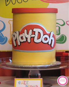 "Events by Kate styled this super cute ""Play-Doh"" Themed party for her three year old son. Check out the fantabulous cake - yes it's a cake! by Sweet Spot Cupcakes , Love all the fantastic and fun details in this party! Birthday Cake Girls, 4th Birthday Parties, 3rd Birthday, Kid Parties, Birthday Ideas, Play Doh Party, Party And Play, Play Doh For Kids, Twins 1st Birthdays"