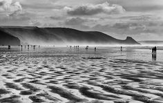 Newgale Beach on New Years day this beautiful shot was taken by Simon Turner for our photography competition Pembrokeshire Coast, Photography Competitions, Holiday Accommodation, Amazing Photography, Wales, Beautiful Homes, Cymric, Cool Photos, Coastal