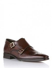 Leather Shoe With Buckles Casoro By Boss Selection