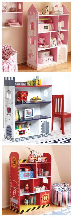 Hand Paint Multi Layers Kids Unit Display Bookshelves / Toy Storage Stands