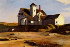 "Edward Hopper (USA, 1882-1967) ""Coast Guard Station (Two Lights, Maine)"" 1929"