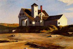"""Edward Hopper (USA, 1882-1967) """"Coast Guard Station (Two Lights, Maine)"""" 1929"""