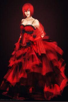 Kuroshitsuji Madam Red Red Dress Halloween Costumes