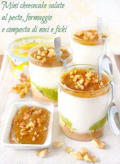 Mini cheesecake di pesto, formaggio cremoso e composta di fichi e noci | dolci a go go!!! | Bloglovin'