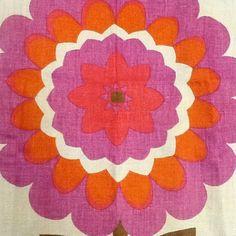 vintage linen tea towel by pat albeck for jonelle