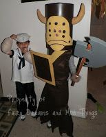 Homemade-DIY Halloween costume for my boys