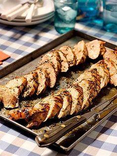 Jamie Deen's Herb-Rubbed Grilled Pork Tenderloin