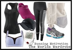 """Running Motivation"" by cookiek on Polyvore"