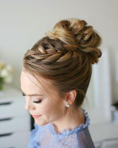 """Gefällt 17 Tsd. Mal, 84 Kommentare - Missy Cook (@missysueblog) auf Instagram: """"A new tutorial went up on my YouTube channel for this Fishtail French Braid High Bun! ✨ Check it…"""""""