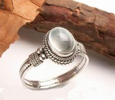 moon stone & Sterling silver ring