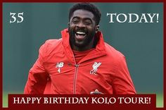 Happy Birthday to Kolo Toure - 35 today! Tag him to wish him #happybirthday #KoloToure #Toure #LFC #YNWA #LiverpoolFC #Birthday #celebrate #photooftheday #instagood #bday