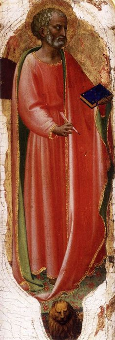 St Mark 1423-24 Tempera on wood Musée Condé, Chantilly