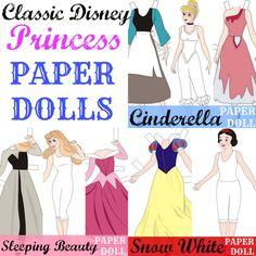 Classic #Disney Princess Paper Dolls (FREE Printables)