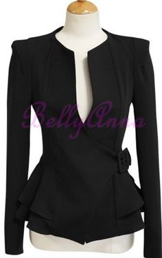 Peplum cross belted jacket ♥✤ | Keep the Glamour | BeStayBeautiful