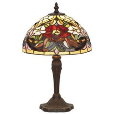 Artistar 39 cm Tischleuchte Tiffany lamps | Wayfair.de - #Artistar #Lamps #Tiffany #tiffanylampdecor #Tischleuchte #Wayfairde - Glass Table Lamp, Lamp, Stained Glass Table Lamps, Stained Glass Light, Bubble Chandelier, Art Deco Lamps, Tiffany Ceiling Lights, Tiffany Lamps, Glass Lighting