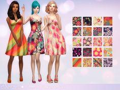 Sims 4 CC's - The Best: Summer Flavor Dress by Aveirasims