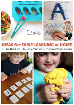 Early Learning at Home + Kids Co-Op Link Party - #kids #homeschool #preschool #kbn #binspiredmama