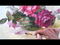 Le jeu de ombres et des lumières de la peinture des roses de Catharina K...