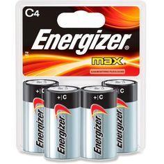 Energizer MAX Alkaline C Batteries - Package of 4 https://tumblr.com/Z1jewd2LZFvg0?e