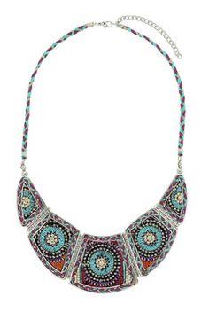 Plaited Thread Necklace - Topshop