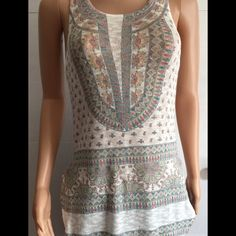 Bohemian knit top Super cute boho inspired sleeveless top. Great with jeans or leggings Handmade Tops Tunics