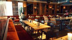 verbouwing Orloff an de Kade restaurant  in staal en hout door wearearchitects #horeca #cafe #utrecht #diner #restaurant Utrecht, Conference Room, Restaurant, Furniture, Home Decor, Decoration Home, Room Decor, Meeting Rooms, Restaurants