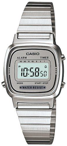 Casio LA670W7D - Reloj de Señora metálico Plata