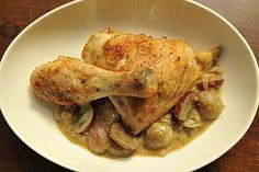 Roast Chicken with Mustard and Grapes recipe on Food52