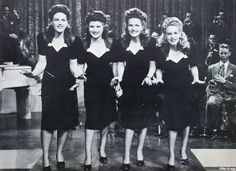 Vocalists, The King Sisters aka The Four King Sisters