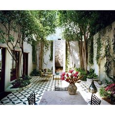 """""""Dream Courtyard ♡ Photographed by #FrancoisHalard for #Vogue May 2013"""""""
