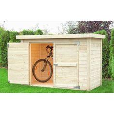 Abri à vélos en bois massif 14mm brut CYKEL - BALTIC, Coffre de jardin