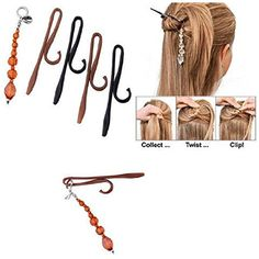CCbeauty Magic TWIST N CLIP For Women Hair, 4 Hairpin Clips   1 Tassel Tail *** Want to know more, click on the image. (This is an affiliate link and I receive a commission for the sales)