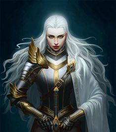 f Paladin Plate Armor Cloak Longsword hilvl underdark undercity urban City Temple Red Fox by Yi Zhang med Dnd Characters, Fantasy Characters, Female Characters, Female Armor, Female Knight, Aasimar Paladin Female, Inspiration Drawing, Fantasy Inspiration, Fantasy Women
