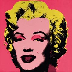 American artist Andy Warhol very much popularised screen printing as a technique, with his loud and garish colours, graphically conveying every day objects and famous faces, like Marilyn Monroe.