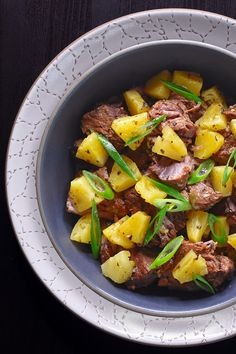 My Instant Pot (Pressure Cooker) Spicy Pineapple Pork is the homemade version of the same popular Nom Nom Paleo hot bar dish at Whole Foods Market! This Whole30-friendly pork stew is savory, pineapple-y, moderately spicy and so dang easy to make in a pressure cooker!