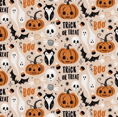 Halloween Pattern - Monkey Mind Design