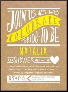 Krafty Bride, Wood Style Background - Signature Bridal Shower Invitations in…