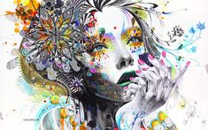 Really like his work.Minjae Lee is a young South Korean artist who uses old-fashioned tools — markers, pens, crayons, acrylics — to create his illustrations. The ethereal females that populate most of his work exude a dark tension, Art And Illustration, Art Amour, Graffiti, Street Art, Inspiration Art, Journal Inspiration, Wow Art, Arte Pop, Korean Artist