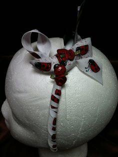 New handmade skinny wrapped headband, ladybug design on Etsy, $5.00