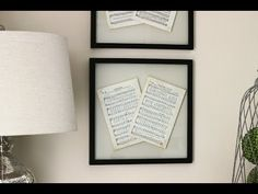 DIY Wall Decor - Make your own glass pressed frame.  Learn to antique paper.  Jennifer Decorates