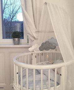 Baby's nursery with stokke sleepi cot