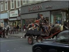 Still from Steptoe and Son Ride Again • Harrow Road • Junction with Elgin Avenue • 1973