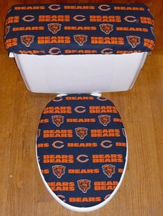 Chicago Bears Bathroom Set. Pittsburgh Steelers Toilet Seat Cover And Tank Lid Cover Set Custom Order For Sarah