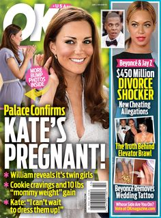 OK! Magazine Cover Story: Palace Confirms Kate Middleton is Pregnant! | OK! Magazine