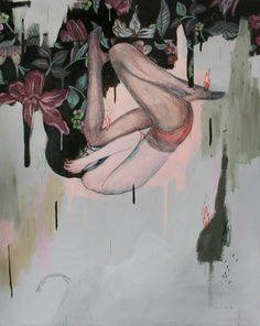 """Alexandra Levasseur. Instable, 2012. Acrylic and colored pencil on paper, 19 x 15"""".      http://alexandralevasseur.com/"""