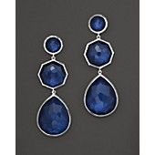 """Ippolita """"Midnight Wonderland"""" Sterling Silver Rock Candy Crazy 8'S Earrings In Midnight"""